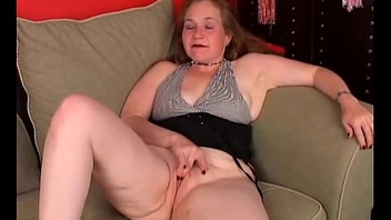 Anomalous old spunker copulates her fat racy pussy for you