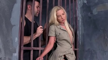 DP banged jail guard enjoys prisoner cocks