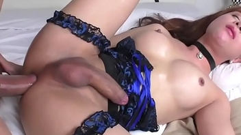 Asian Tranny Plam Gets Her Ass Pounded