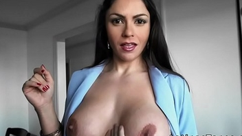 Huge tits Latina fucks client pov in luxury house