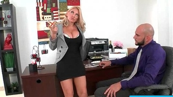 Hot busty secretary nailed by her boss in the office 21