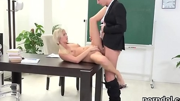 Elegant schoolgirl is teased and fucked by her older schoolteacher