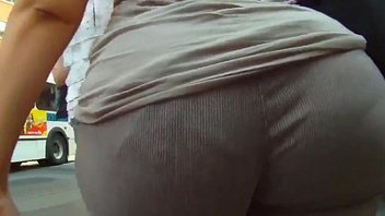 Frankly - Bubble Butt BBW Latina showing her Wedgie