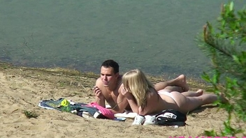 Seashore fucking amateur teen stepsister nice ass with small tits outdoor