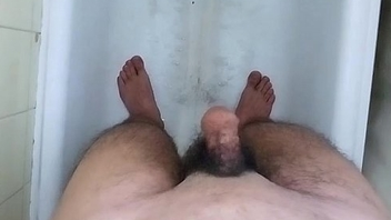 Shaving My Big Thick Sexy Hot Hairy Cock &amp_ Balls in transmitted to BathRoom !!!