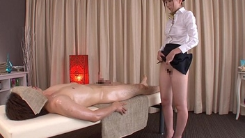 Subtitled traditional Japanese bottomless rub down Yui Hatano