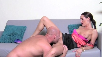 Stud strips with an increment of shows off his downcast convention during casting